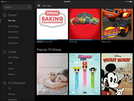 Xfinity tv app xfinity cable deals for Mirror xfinity app to tv