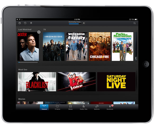 XFINITY TV Player App iPad
